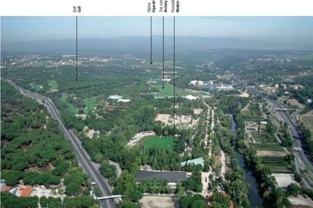Foto aérea del Club de Campo e incluida en el dossier entregado al COI por Madrid 2020
