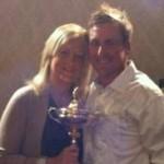 Ian Poulter y su esposa Katie posan ante la Ryder Cup