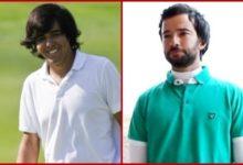 J.Ballesteros y A.Larrazábal, en el tee de la Copa El Rey