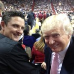 Justin Rose con Donald Trump viendo a los Heats vs Lakers