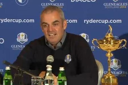 Paul McGinley en rueda de prensa