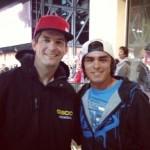Rickie Fowler con Kevin Windham estrella retirada del motocross