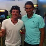 El número uno del mundo, Rory McIlroy, junto a Rafa Nadal