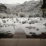 Russel Henley también quedaba asombrado de la nevada en Dove Mountain