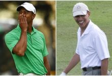 Obama jugó 18 hoyos con Tiger Woods en Florida
