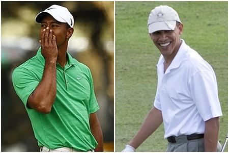 Obama jugó 18 hoyos con Tiger Woods en Florida