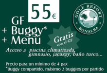 Bonalba Golf: Green Fee+Buggy+Menú= 55€
