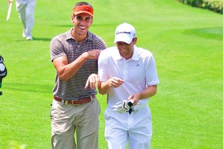Rafa Cabrera-Bello y Sergio García. Foto: Volvo in Golf