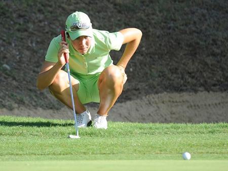 Carlota Ciganda en el green