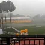 Las tormentas no dieron tregua en el Open de Malasia, el torneo se redujo a 54 hoyos