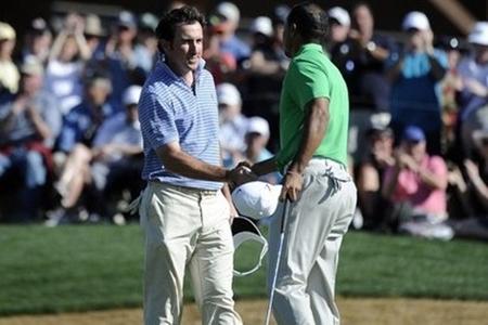 Tiger y Fdez.-Castaño durante el Accenture Match Play en 2012 Foto: PGA Tour