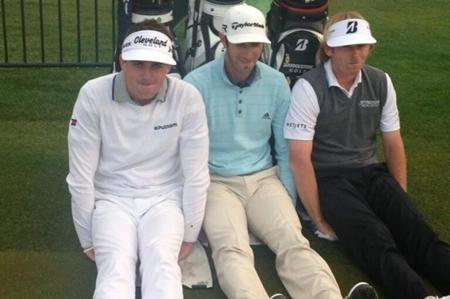 Keegan Bradley, Dustin Johnson y Brandt Snedeker