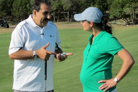 Lorena Ochoa durante el embarazo de su primer hijo