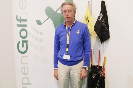 Nacho Guerras visitó el stand de OpenGolf en madridGolf. Foto: OpenGolf.es