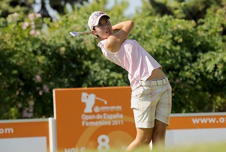 Carlota Ciganda, durante el Open de España de 2011