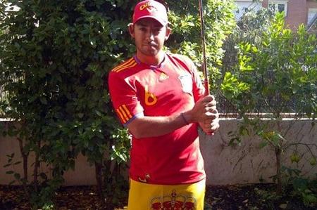 Pablo Larrazabal en una foto de archivo antes de un partido de la Eurocopa 2012 Foto Pablo Larrazábal vía Twitter