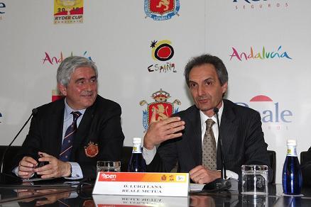 Gonzaga Escauriaza, en una presentación del Open de España