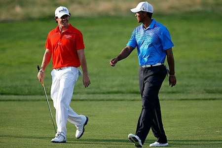 Rory McIlroy y Tiger Woods. Foto PGA Tour