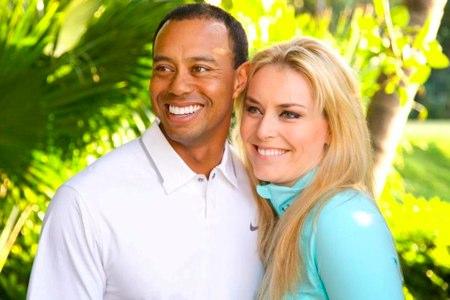 Tiger Woods y Lindsay Vonn. Foto Facebook