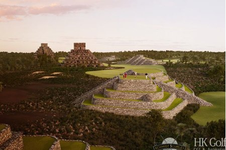 """""""Swing"""" entre ruinas aztecas en el nuevo Mission Hills, en China"""