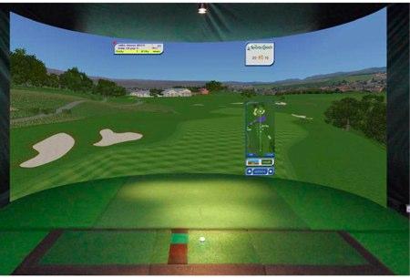 surround simulador de golf panoramico