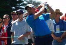Sergio García trabaja el 'draw' para el Masters de Augusta