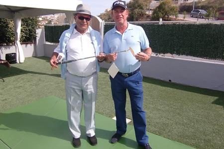 Fernando Cambronero (Director General PING España) y Miguel Ángel Jiménez