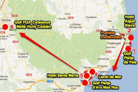 Viaje OpenGolf: Girona es un rincón en el Paraíso. Un viaje en 6 golpes (CAPÍTULO I)
