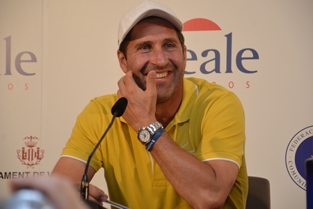 José Mari Olazábal durante la rueda de prensa en El Saler. Foto: OpenGolf.es
