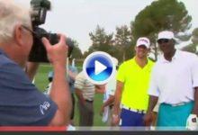 Michael Jordan y Michael Phelps, juntos en un campo de golf (VIDEO)