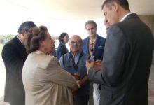 La alcaldesa de Valencia, Rita Barberá, con el golf en el Parador de El Saler