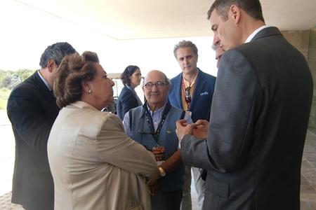 Rita Barberá a su llegada al Parador de El Saler. Foto: OpenGolf.es