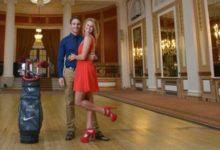 Tano Goya y la escocesa Carly Booth, una magnífica pareja de golfistas