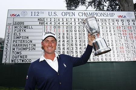 Webb Simpson, campeón del US Open 2012. Foto USGA