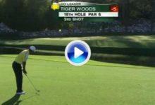El golpe de mala suerte de Tiger, contra la bandera en el hoyo 15 de Augusta