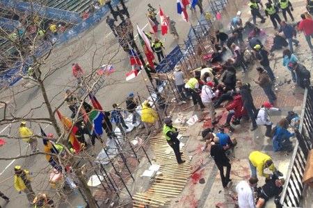 Meta del maratón de Boston tras los atentados. Foto:  www.thegatewaypundit.com