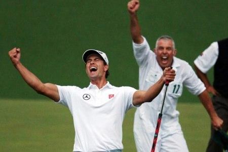 Adam Scott celebra el triunfo en Augusta