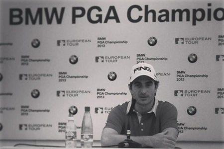 Alejandro Cañizares en rueda de prensa Wentworth Foto European Tour via Twitter
