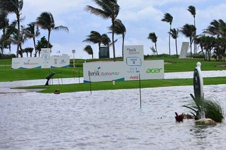 Tormenta tropical sobre el Ocean Course de Bahamas. Foto: LPGA.com