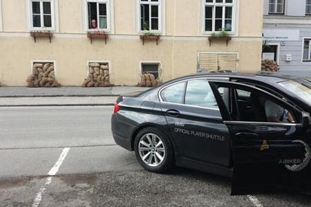 Sacos terreros protegen la ciudad de Krems por el posible desbordamiento del Danubio (Tour Europeo)