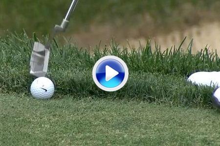 Kyle Stanley pateó con la punta de su putt para birdie en Muirfield (VÍDEO)