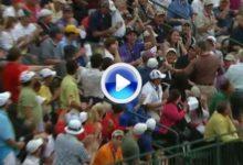 Westwood tiró una bola a la grada de espectadores pero salvó el par