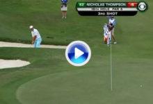 Este eagle de Thompson desde el búnker, el mejor golpe del día en el PGA Tour (VÍDEO)