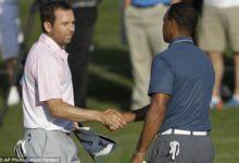 Sergio García y Tiger estrecharon sus manos en Merion este lunes