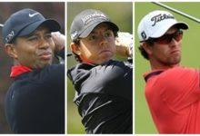 Tiger, McIlroy y Scott, el 'top 3' mundial, jugarán juntos el US Open