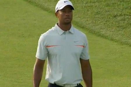 Tiger Woods, durante la 3ª ronda del US Open en Merion