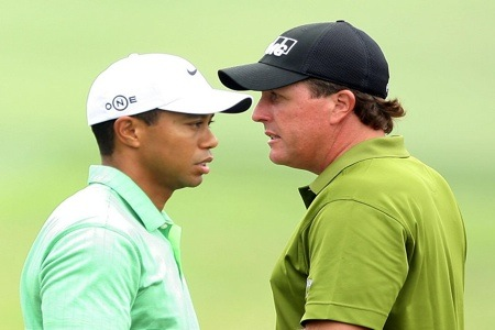 Tiger Woods, Phil Mickelson.1.