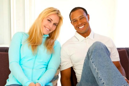 Tiger Woods y Lindsay Vonn
