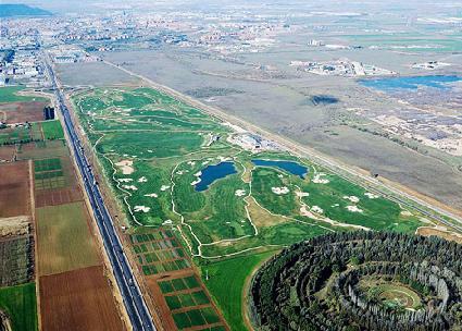 Vista aérea de El Encín. Foto: madridmasters