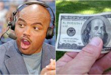 Charles Barkley, ex NBA, dispersó billetes de 100 dólares en un campeonato de golf